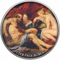 Реверс монеты «Лот и его дочери Рубенс-17»